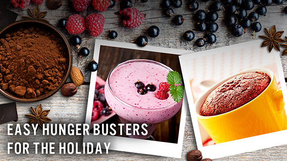 Easy hunger busters for the holiday