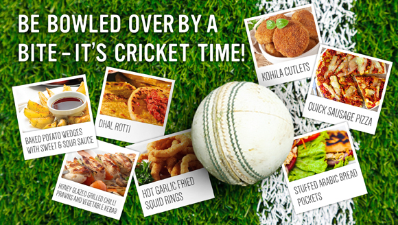 Be bowled over by a bite – It's cricket time!